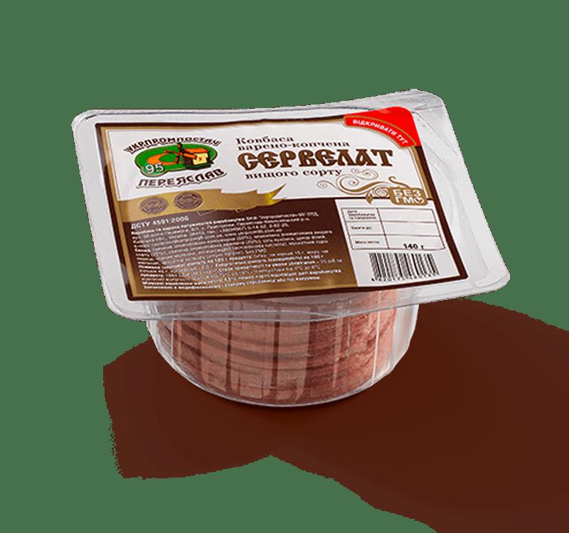 Колбаса сервелат (нарезка)