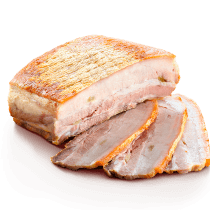 Roasted pork belly with spices