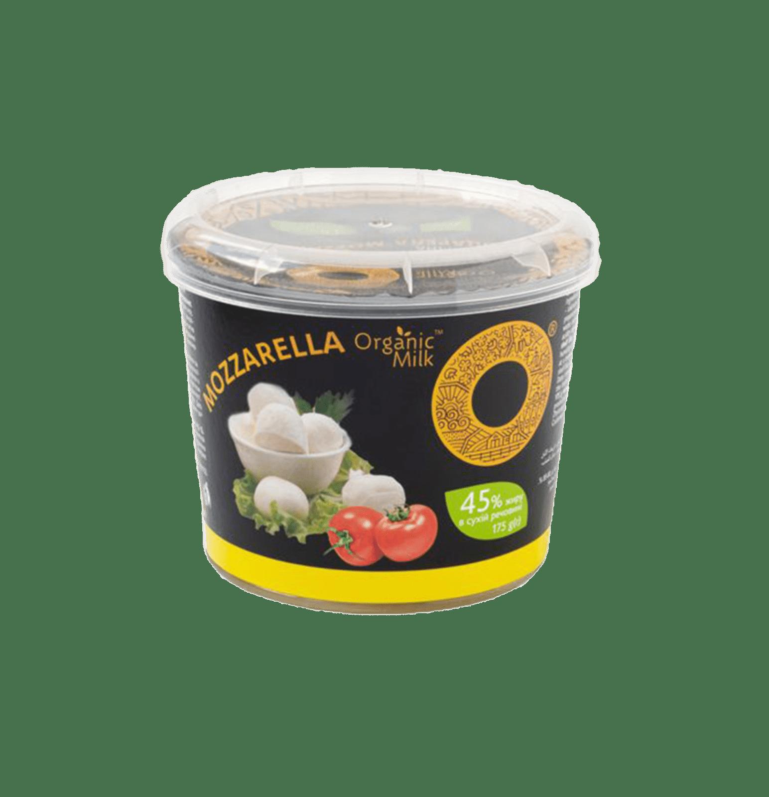 Сир м'який органічний Моцарела 45 % (175 гр)